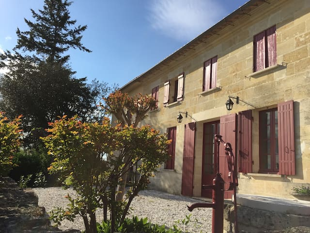 Maison de charme en pierre près Saint Emilion - Sainte-Terre - Huis