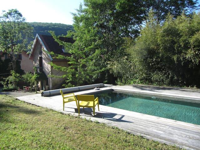 Charming cottage huge park w/ pool  - Besançon - Dom