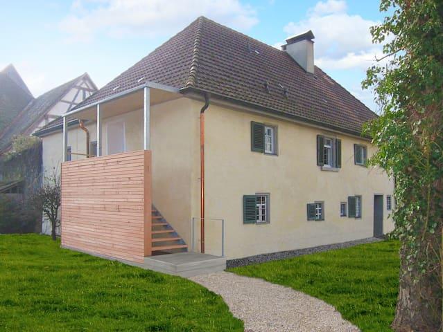 3-room-apartm, historic bldg,garden - Obermarchtal - Leilighet