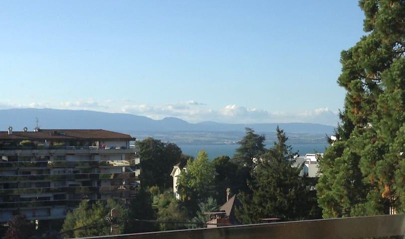 à côté des thermes, vue sur le lac - Thonon-les-Bains - Wohnung