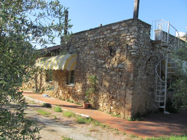 STONE house- 1BR in Olive farm - Albenga - Hus