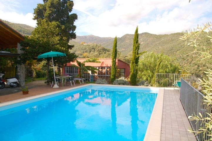alloggio con piscina - Dolcedo - Appartement