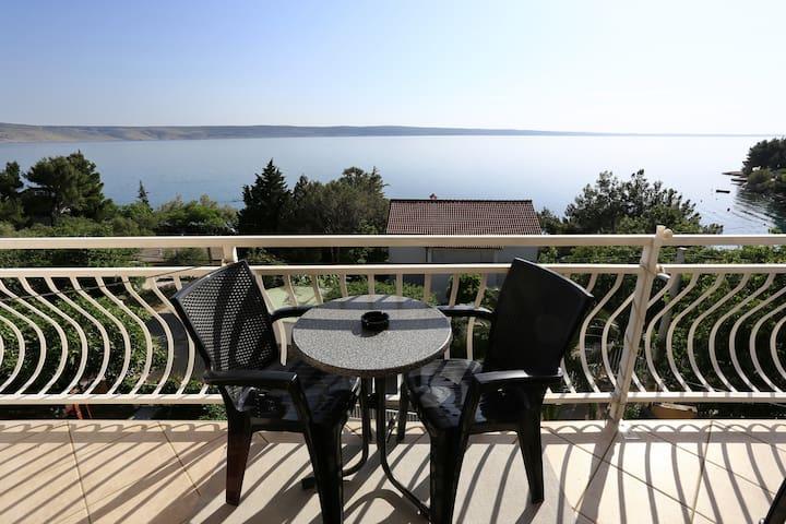 Prachtig uitzicht vanuit een appart - Starigrad - Appartement