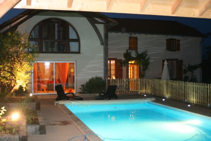 maison spatieuse avec piscine piémont pyrénéen - Pouyastruc - Hus