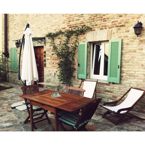 Cute house hills & sea in Marche - Talamello - Appartement