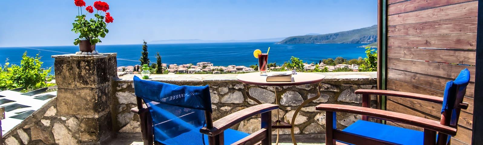 Stone studio with amazing sea view! - Καρδαμύλη - Departamento