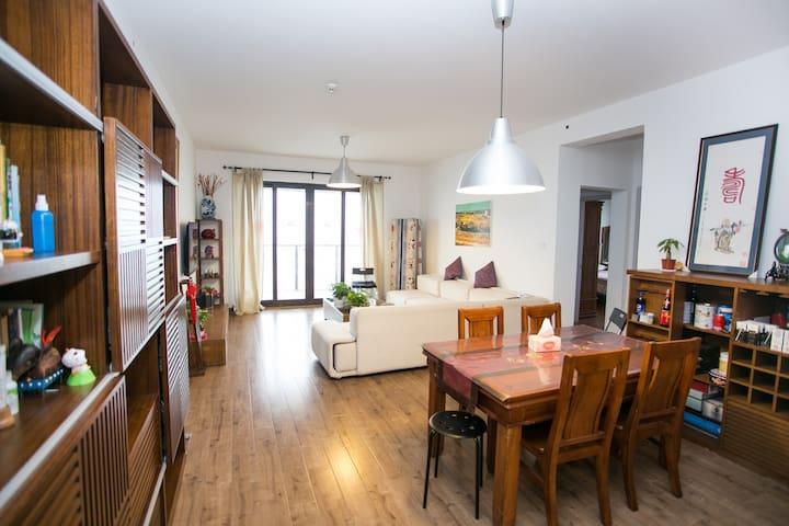 市中心双地铁高端公寓128元一线景观超值服务 - Wuxi - Lejlighed