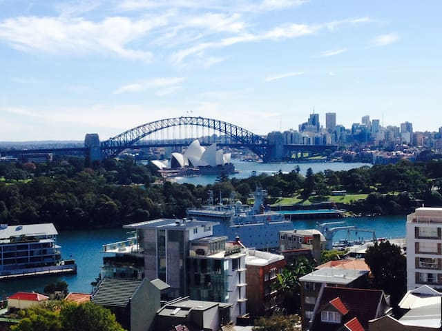 Studio with the best Sydney views. - Potts Point - Daire