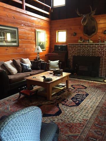 Refined Rustic Lakefront Log Cabin - Ashland