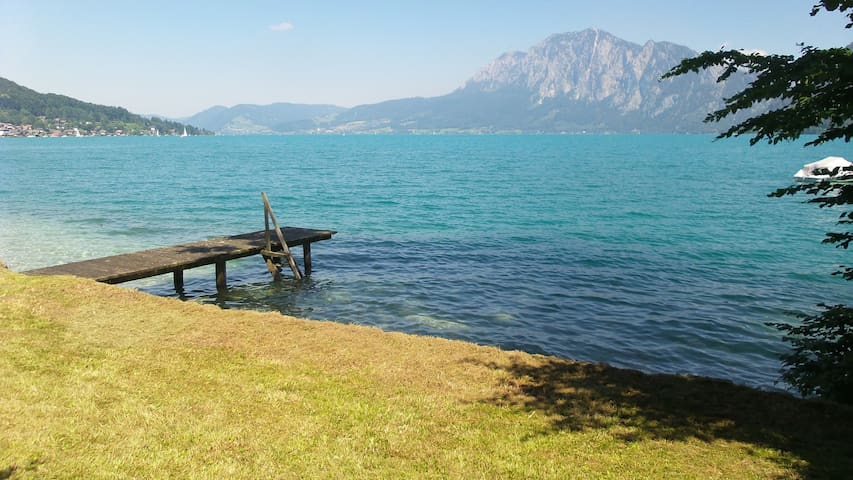 Apartment with private lake access - Unterach am Attersee - Appartement