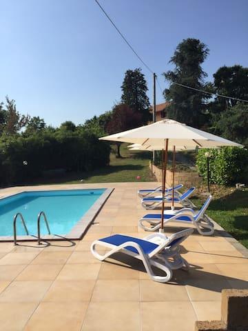 Affitto casa campagna con piscina - Brozolo - Casa