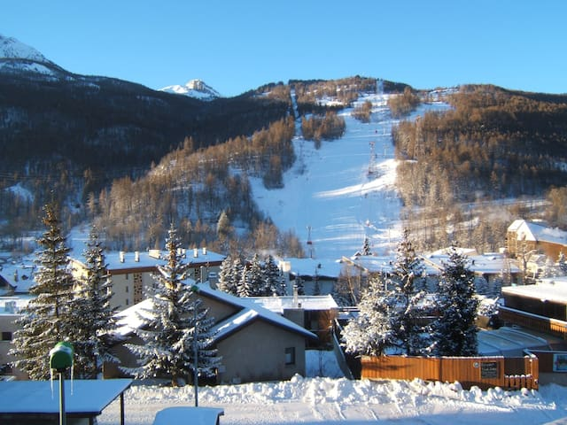 very sunny with panoramic view flat - Saint-Chaffrey - Lejlighed