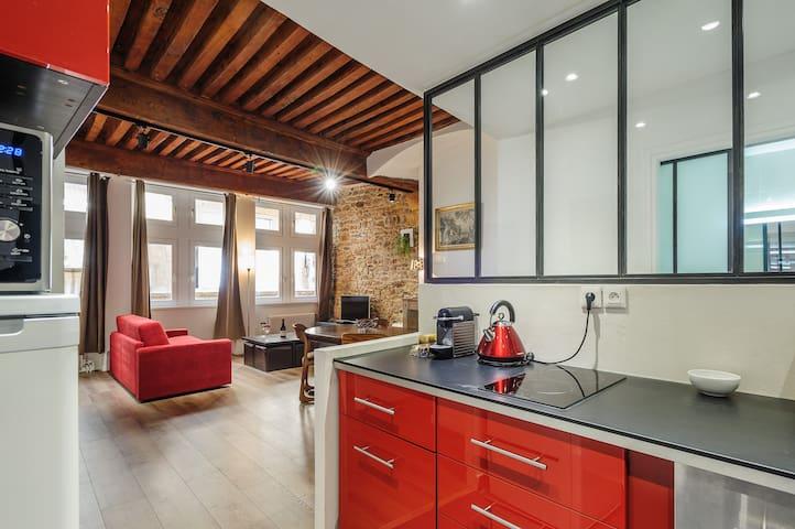 NEW Grand appartement Vieux Lyon. - Lyon - Lejlighed