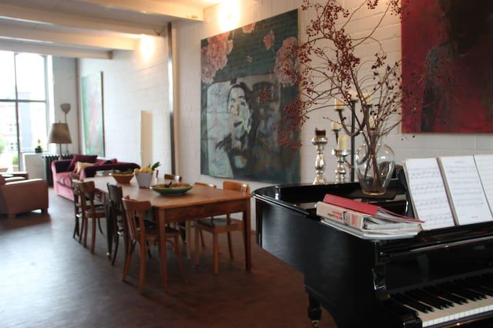Private room in converted factory - Düsseldorf - Loft