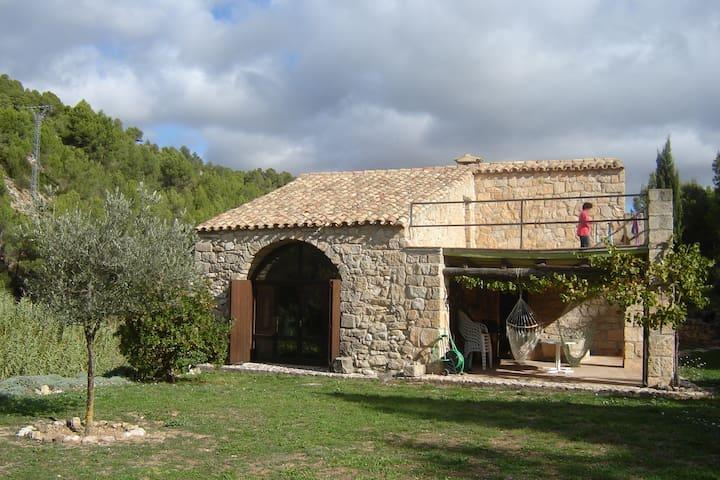 Alte Mühle in idyllischer Umgebung. - Horta de Sant Joan - Huis