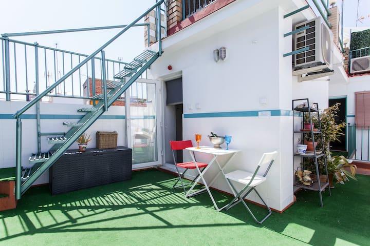 Estudio con terraza Eb - Séville - Maison