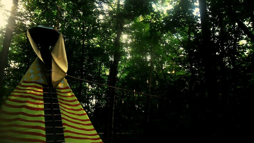 Camp G.R.I.T.S. Tipi . We are still here. - Cosby