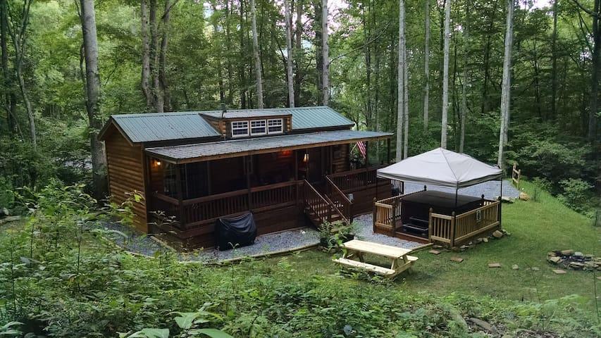Mountain Cabin tucked in the woods - Waynesville