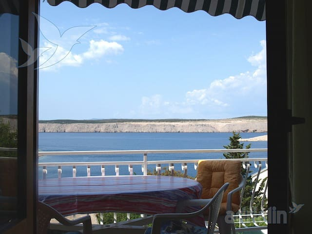 App,6+people,WIFI,A/C, seaview. - Jadranovo - Apartemen