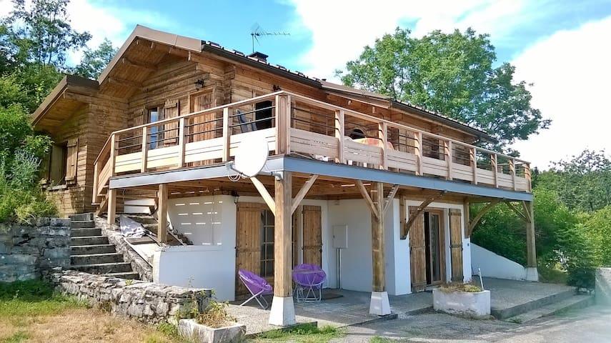 Apartment in a chalet, great view - Châtillon-en-Michaille - Chalet