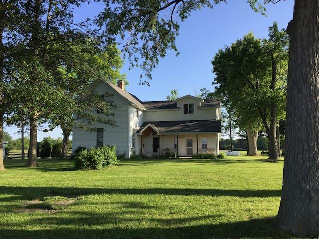Historic Farmhouse on Working Farm - Okawville - Hus