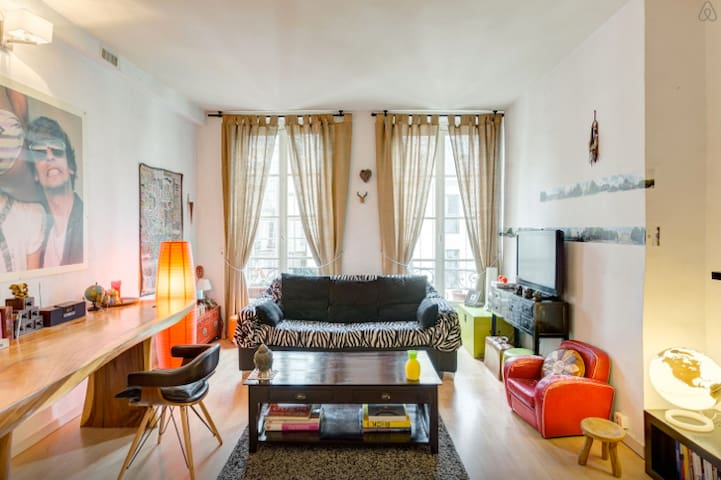 BIG PRIVAT ROOM/CENTRAL/NEAR LOUVRE - Paris - Apartamento