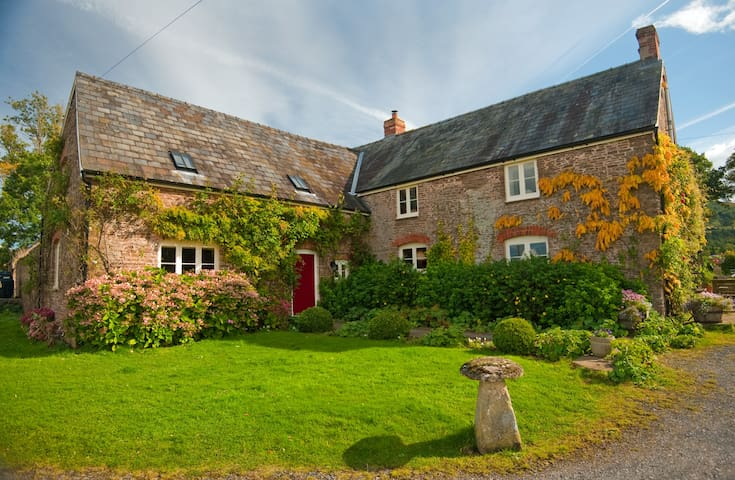 The Yellow Bedroom at Court Y Grove Farmhouse B&B - Herefordshire - Bed & Breakfast