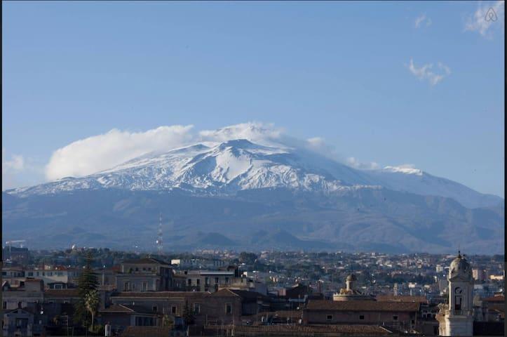Apt centro storico con vista Etna - Catania - Apartemen
